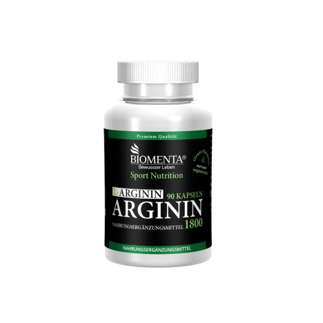 L-Arginin 1800 vegetarisch - 1 Monatskur (90 Kapseln)