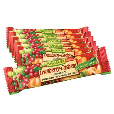 6 x Fruchtschnitte Cranberry-Cashew Bio (6x40g)
