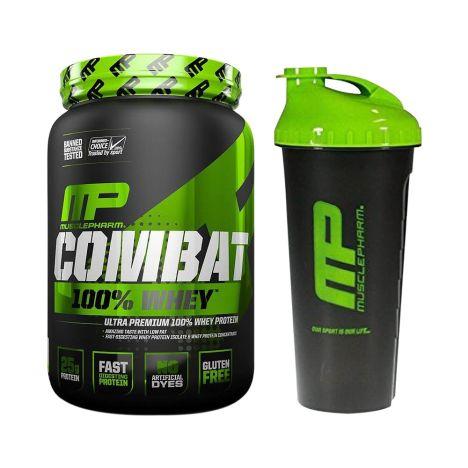 Combat 100% Whey (907g) + Blender Bottle gratis!