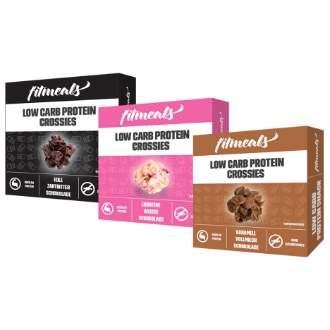 Low Carb Protein Crossies Probierpaket (3x60g)