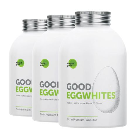 3 x Good Eggwhites Bio-Eiklar (3x500ml)