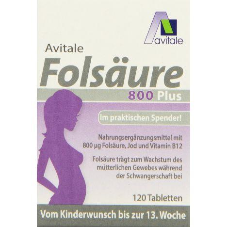 Folsäure 800 Plus (120 Tabletten)