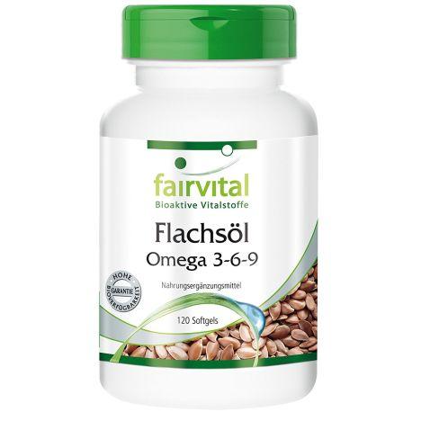 Flachsöl Leinöl Omega-3-6-9 (120 Kapseln)