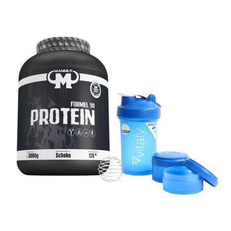 Formel 90 Protein + Blender Bottle Vitafy ProStak (650ml)