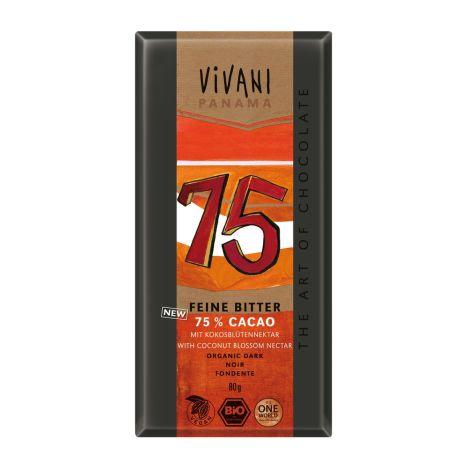 Feine Bitter 75% Cacao Panama bio (80g)