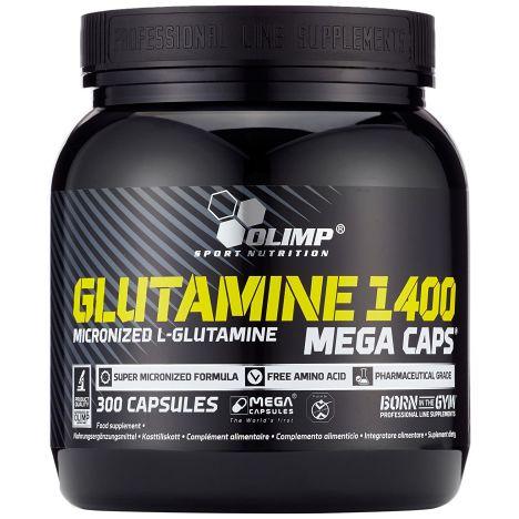 Glutamine Mega Caps 1400 (300 Kapseln)