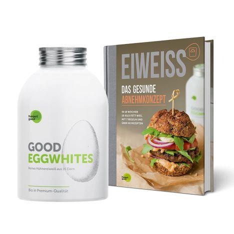1 x Good Eggwhites Bio-Eiklar (483ml) + 1 x Eiweiß - Das gesunde Abnehmkonzept