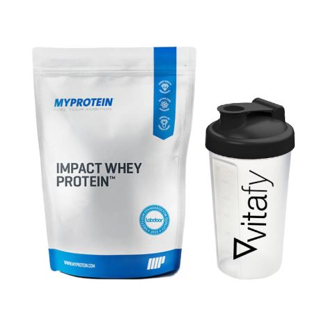 Myprotein Impact Whey Protein (2500g) + GRATIS Vitafy Shaker (600ml)