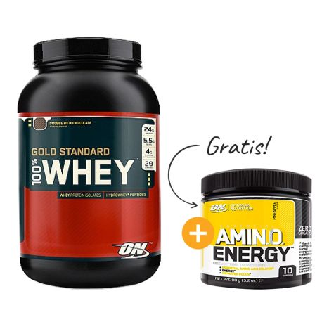 100% Whey Gold Standard (908g) + gratis Amino Energy Trial Size
