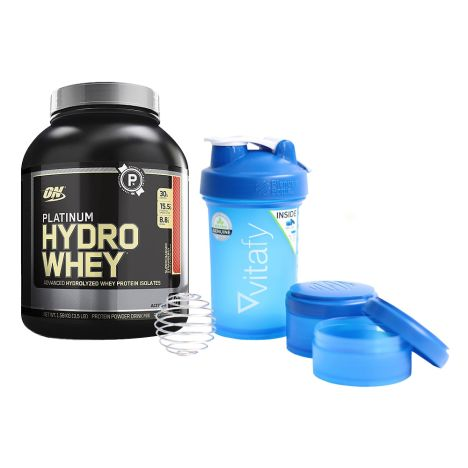 Platinum Hydro Whey (1600g) + Blender Bottle Vitafy Prostak (650ml)