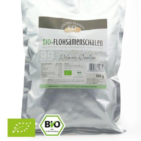 Indische Bio Premium Flohsamenschalen 99% (500g)