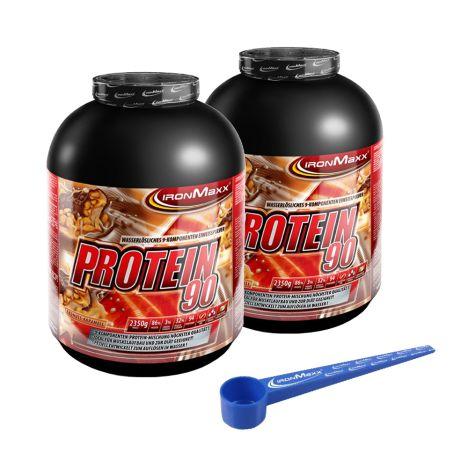 2 x Protein 90 (2x2350g) + XXL Dosierlöffel gratis!