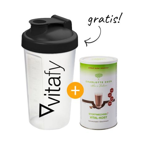 Stoffwechsel Vital-Kost (490g) + GRATIS Vitafy Shaker (600ml)