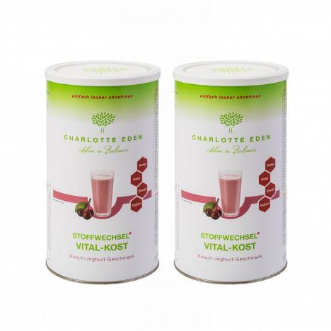 2 x Stoffwechsel Vital-Kost Kirsch-Joghurt (2x490g)
