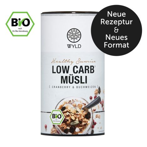 """Bio Low Carb Müsli Cranberry und Buchweizen """"Healthy Sunrise"""" (350g)"""
