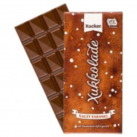 Xylit Schokolade mit Salz & Karamell (100g)