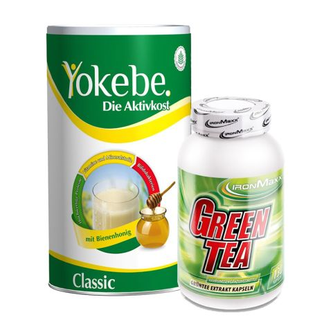 Yokebe Classic Pulver (500g) + Green Tea