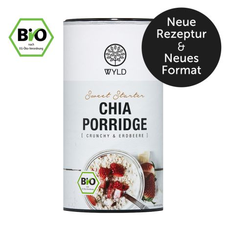 """Bio Chia Porridge Crunchy und Erdbeere """"Sweet Starter"""" (350g)"""