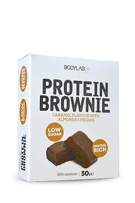Protein Brownie - 12x50g - Caramel + Mandeln & Pekannüssen