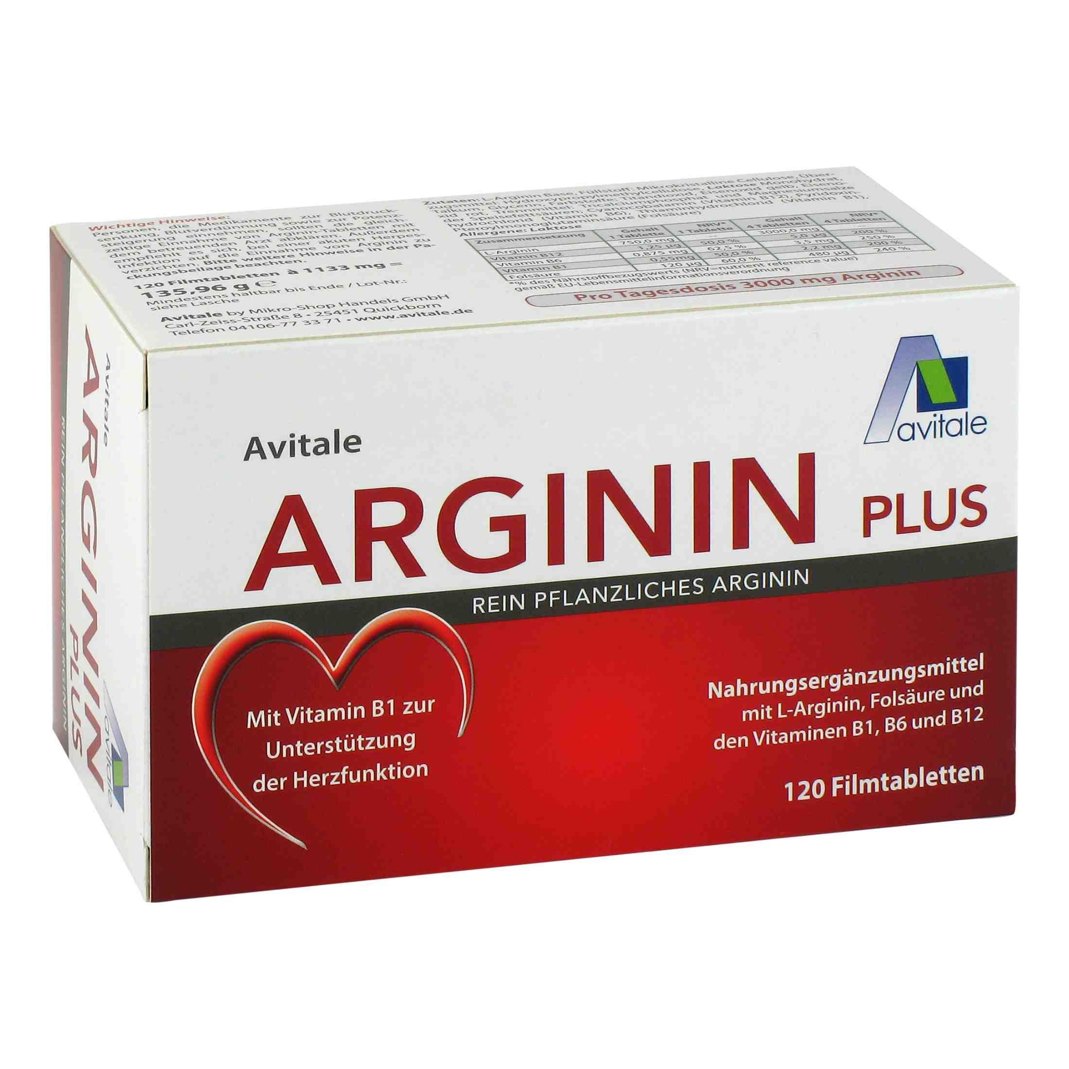 Arginin plus 3000mg (120 Tabletten)