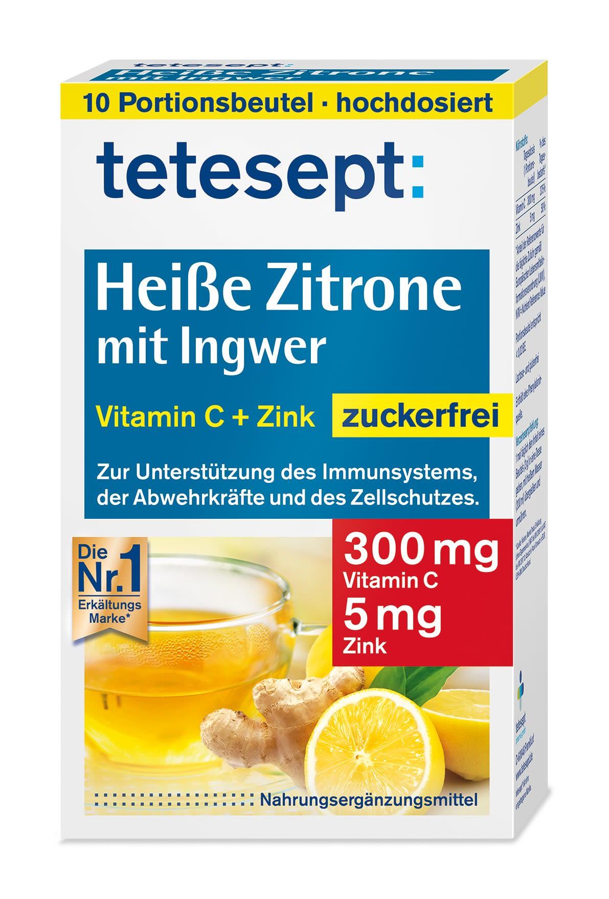 Heiße Zitrone mit Ingwer Zuckerfrei (10x3g)