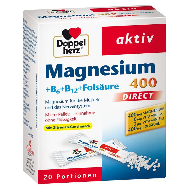 Magnesium 400 + B-Vitamine direct (20x1,4g)