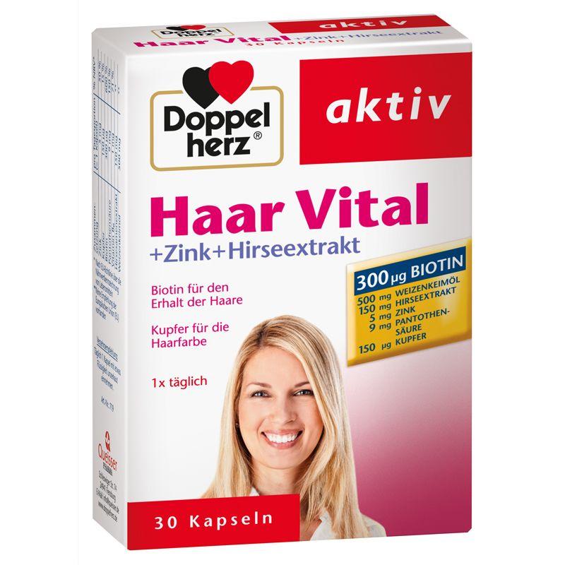 Haar Vital + Zink + Hirseextrakt (30 Tabletten)