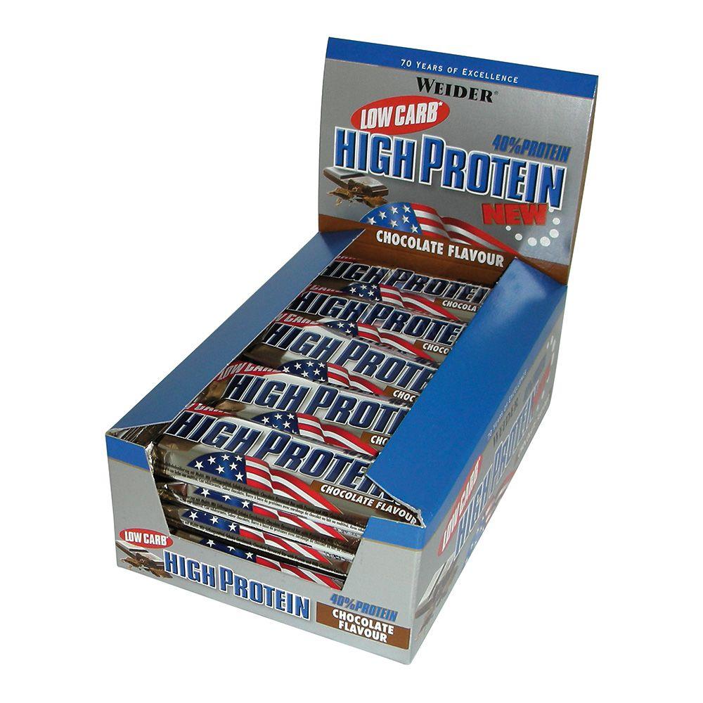 40% Low Carb High Protein Bar - 24 x 50g - Latte Macchiato