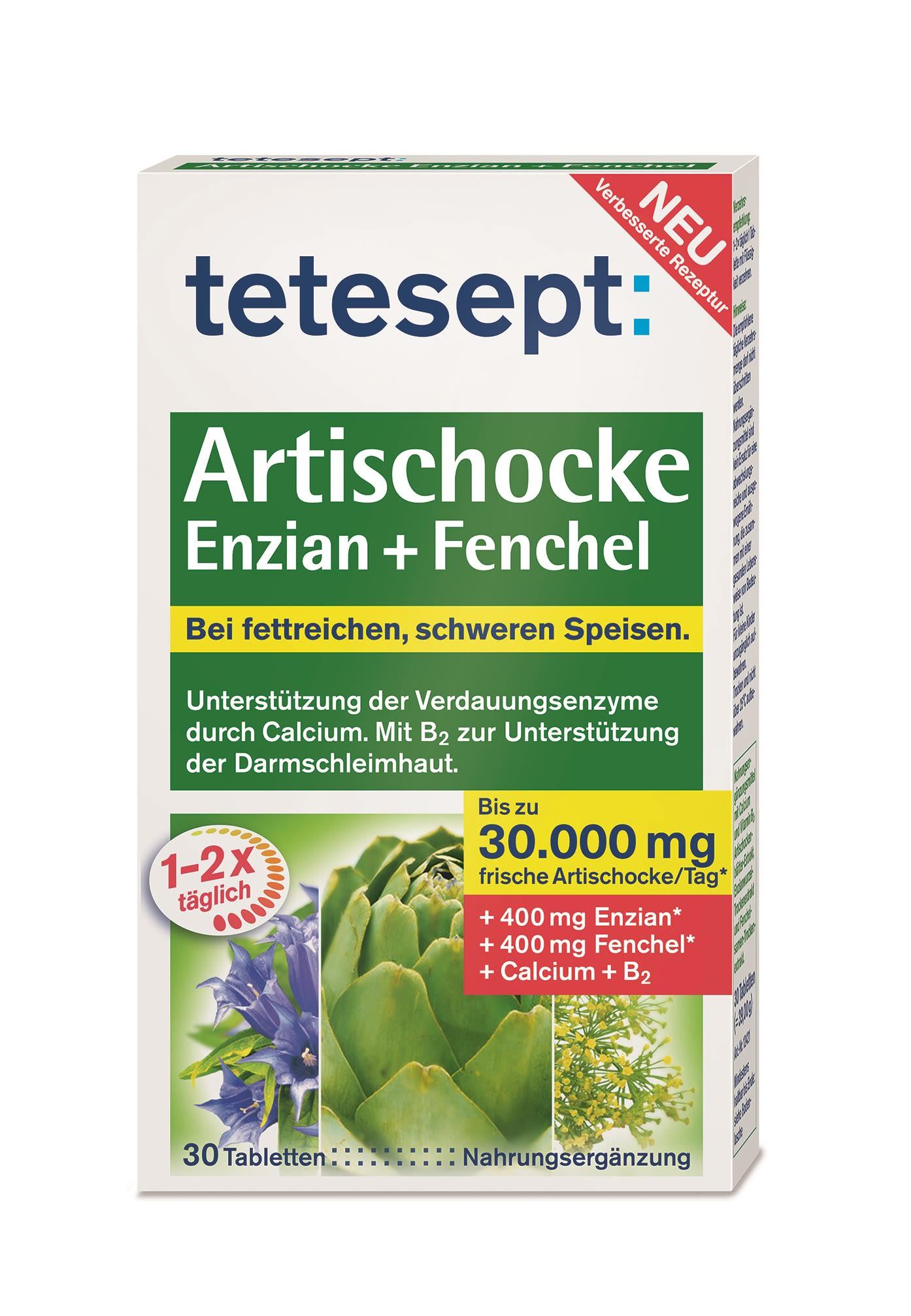 Artischocke Enzian + Fenchel (30 Tabletten)