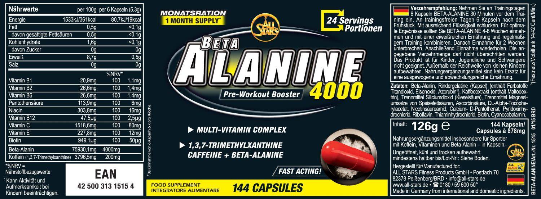 Beta-Alanine Carno Rush Mega Tabs (80 Tabs)