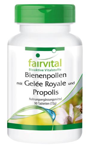 Bienenpollen mit Gelée Royale und Propolis - 90 Tabletten