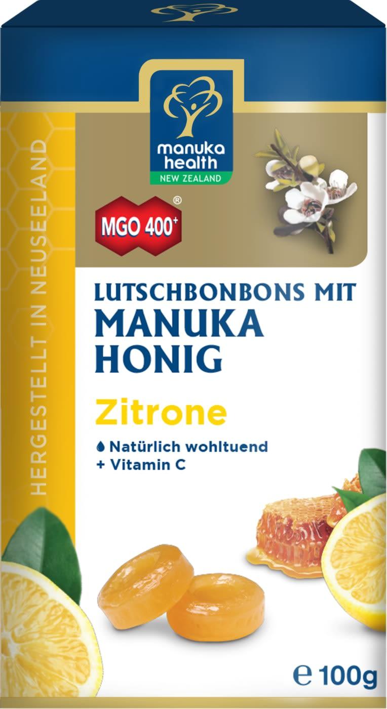 Manuka MGO 400+ Lutschbonbons - 100g - Ingwer-Zitrone