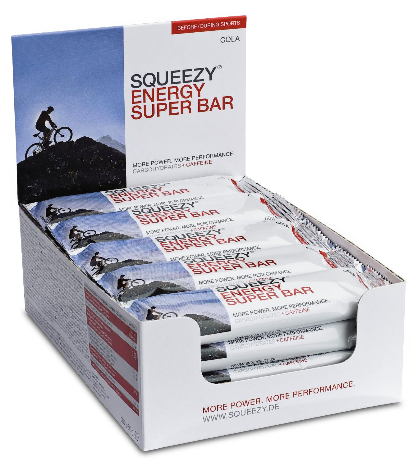 Energy Super Bar Cola+Koffein Display (20x50g)