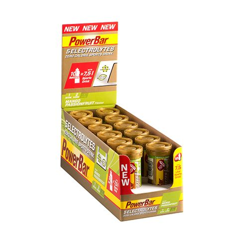 5 Electrolytes Sports Drink - 12 x 10Tabs - Limone-Tonic-Boost