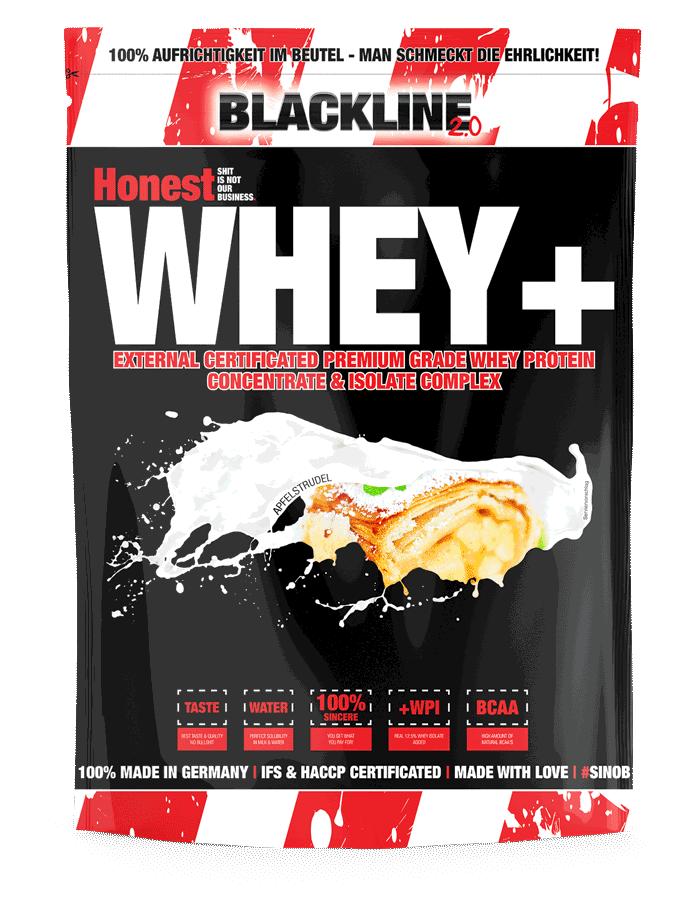 Blackline 2.0 Honest Whey + - 1000g - Erdbeer Shake