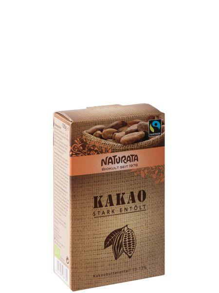 Kakao stark entölt 10-12% Fett bio (125g)