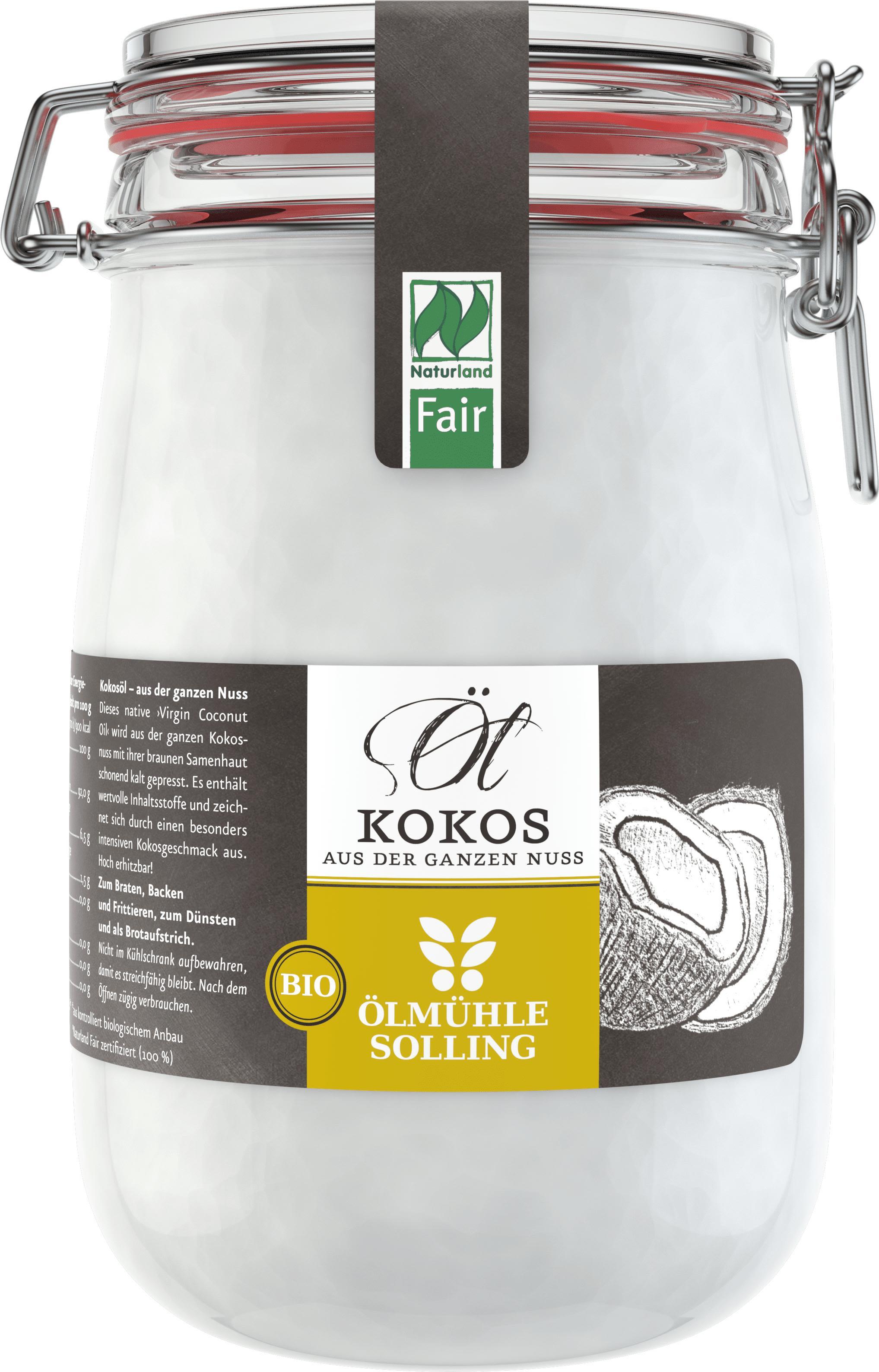Bio & Fair Kokosöl im Bügel-Glas (1000ml)