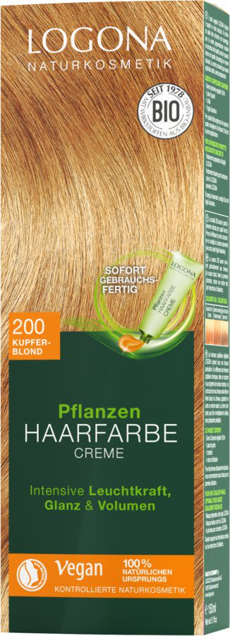 Pflanzen Haarfarbe Creme 200 kupferblond (150ml)
