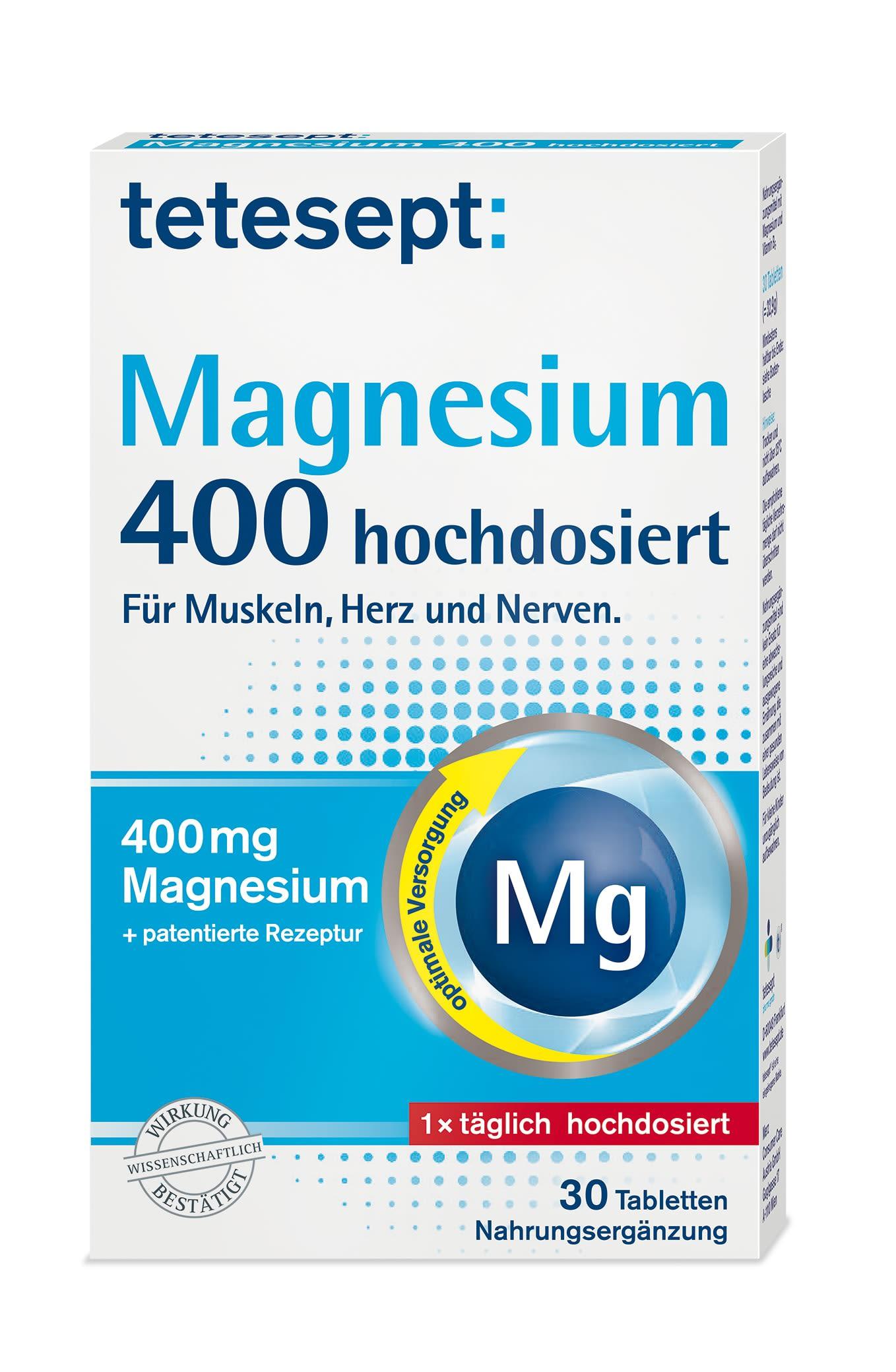 Magnesium 400 hochdosiert (30 Tabletten)