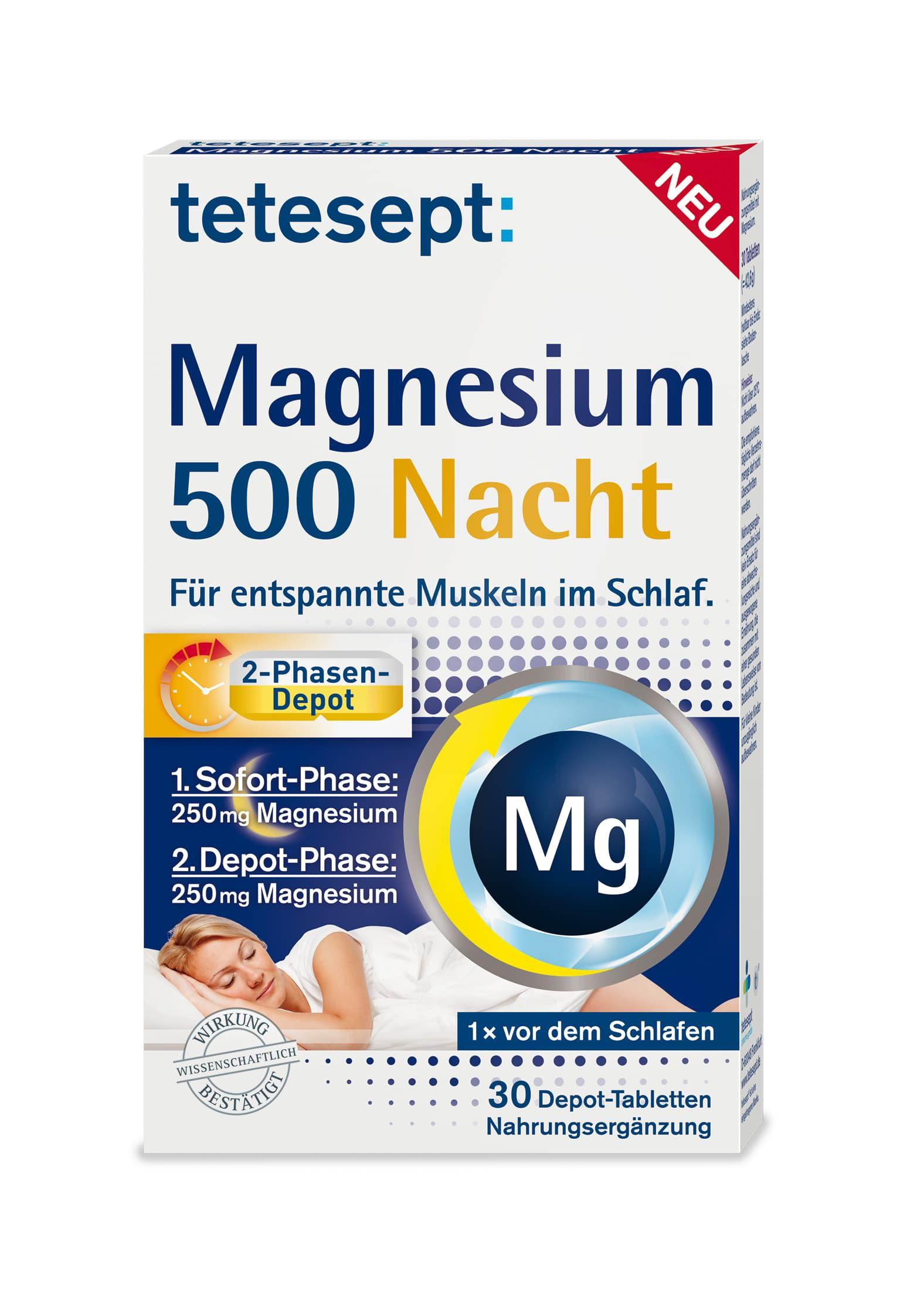 Magnesium 500 Nacht (30 Tabletten)