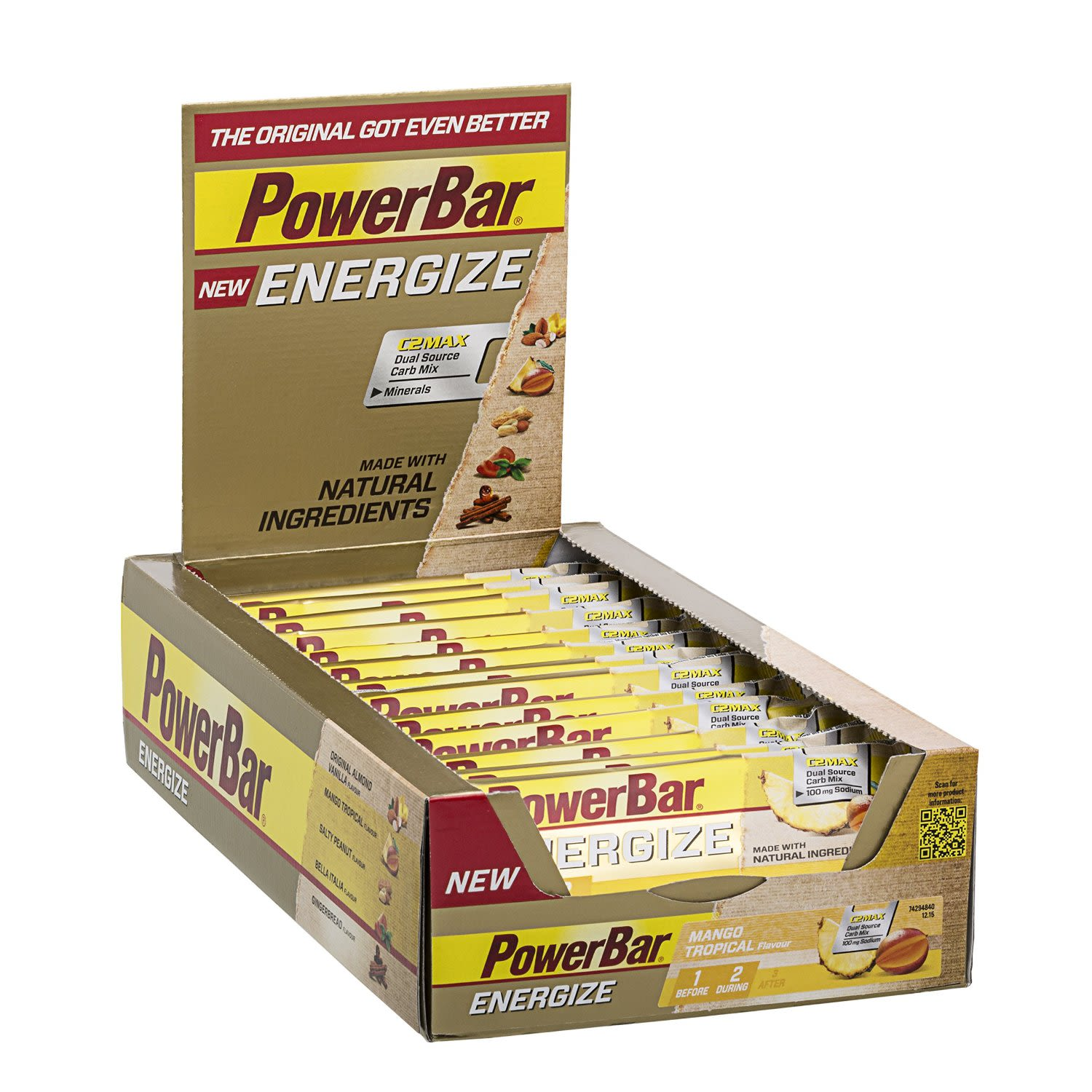 New Energize Bar - 25x55g - Mango Tropical