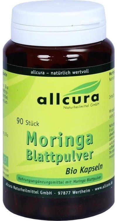 Moringa Blattpulver bio (90 Kapseln)