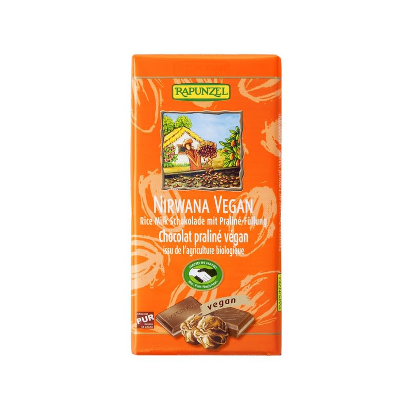 Nirwana vegane Schokolade mit Praliné-Füllung b...
