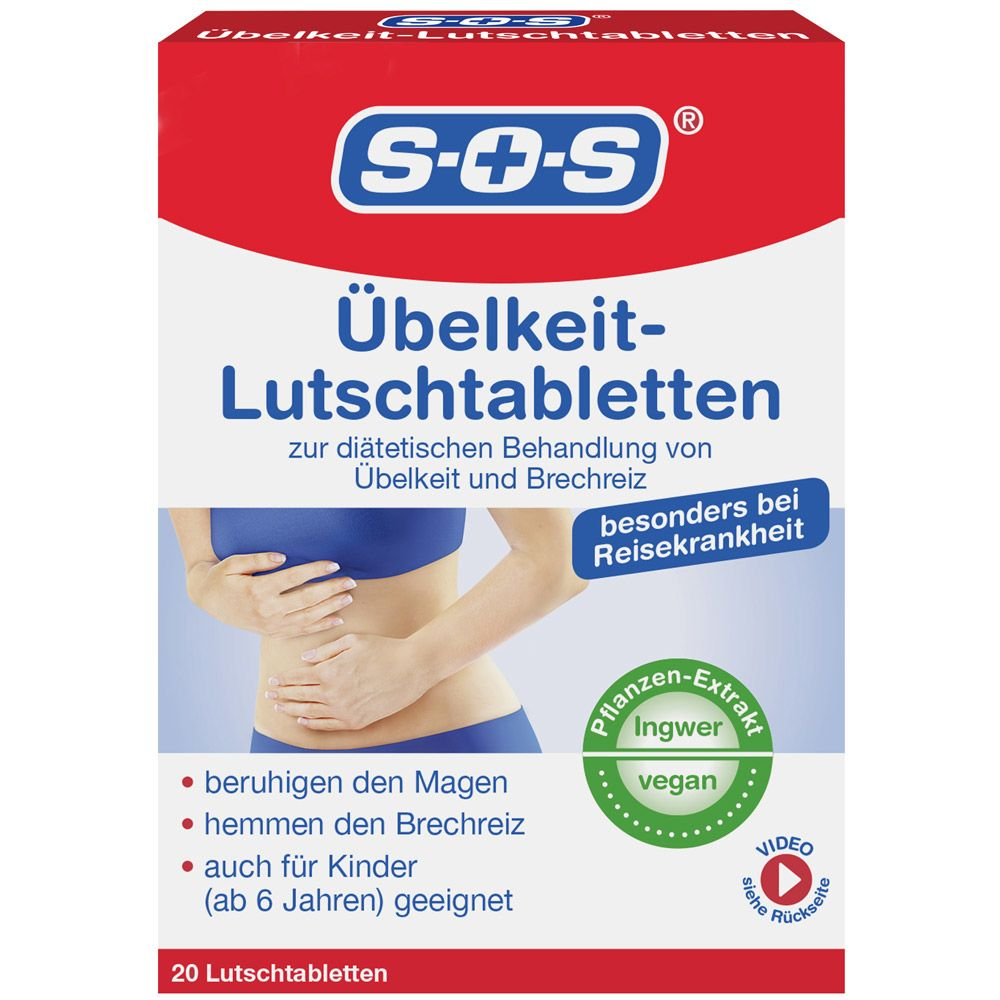 SOS Übelkeit Lutschtabletten (20 Lutschtabletten)