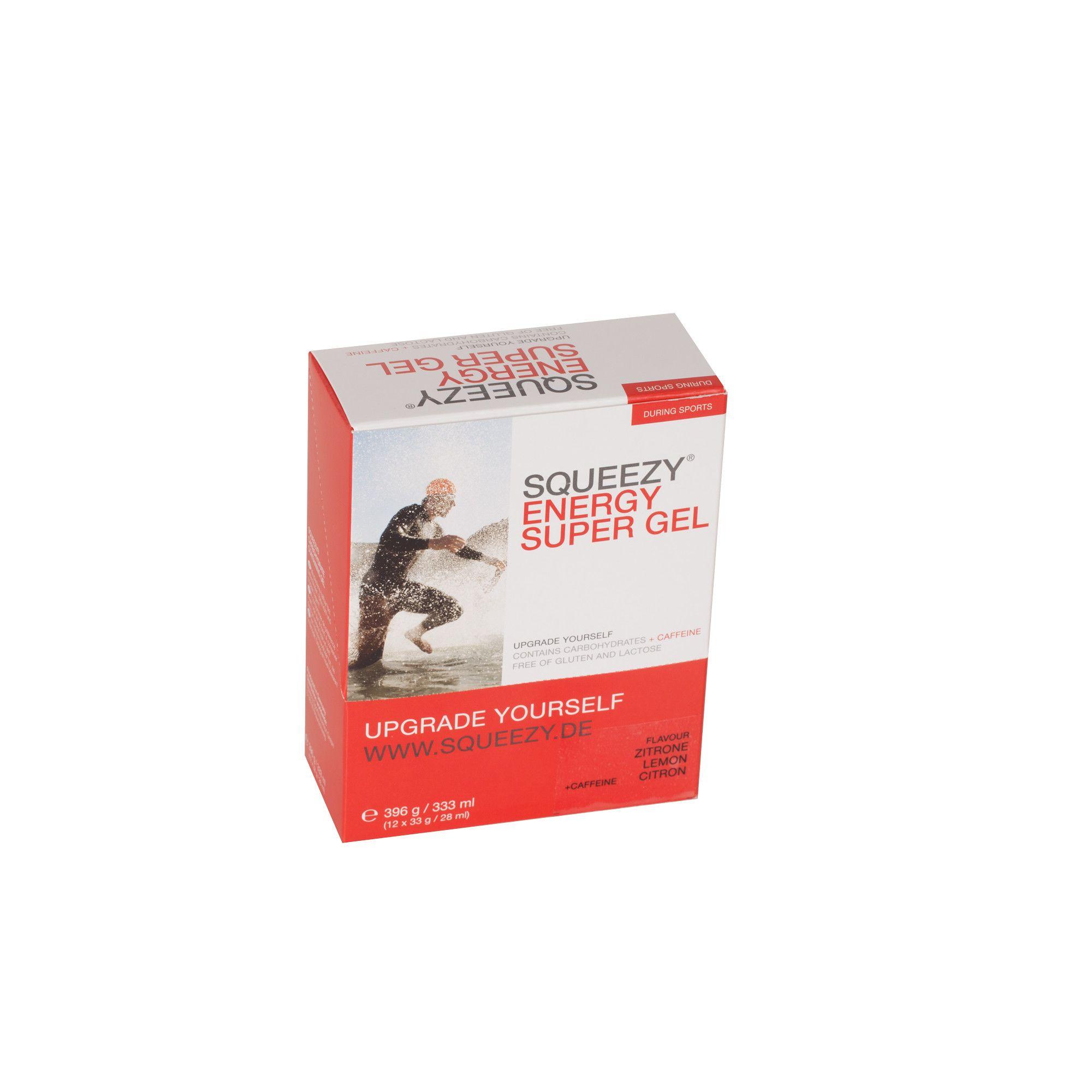 Energy Super Gel Box - 12 x 33g - Zitrone Koffein