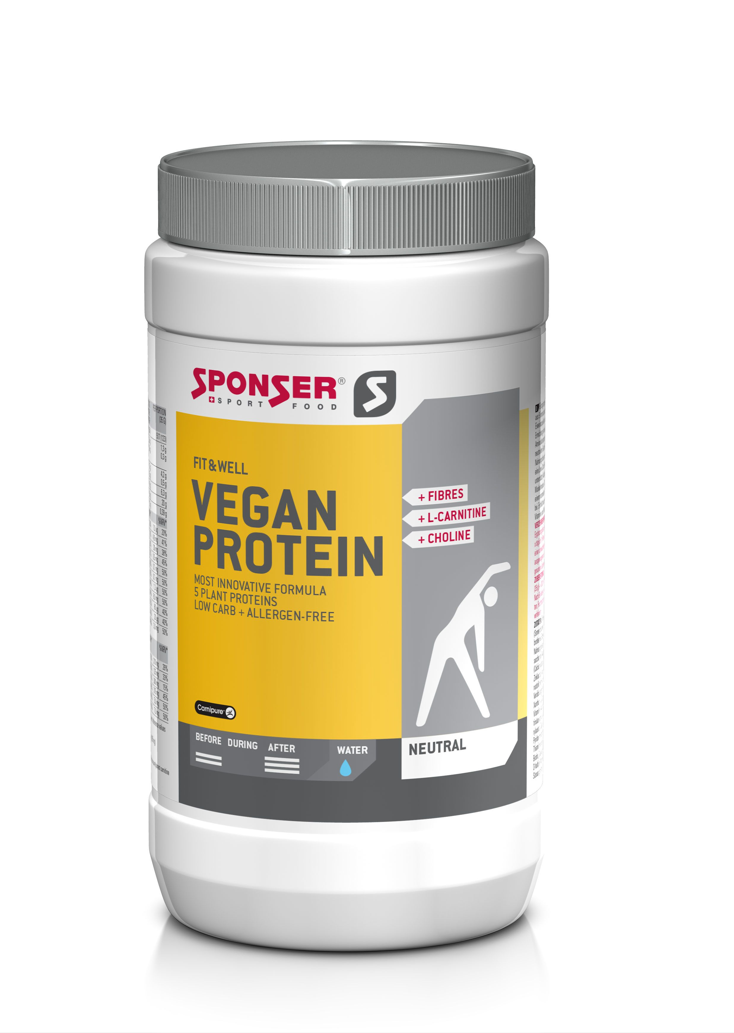 Fit & Well Vegan Protein - 490g - Neutral - MHD...