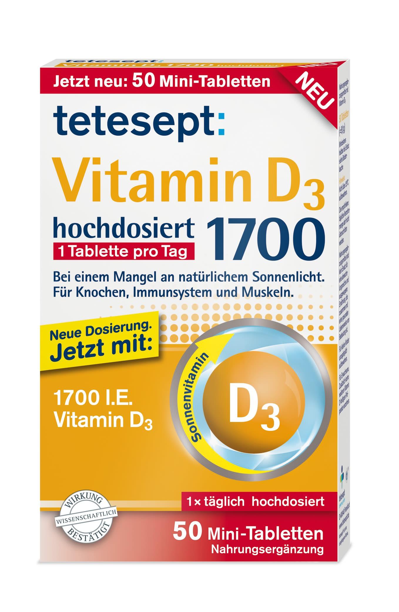 Vitamin D3 1700 hochdosiert (50 Tabletten)