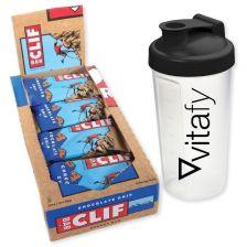 Clif Bar (12x68g) + Vitafy Shaker (600ml)