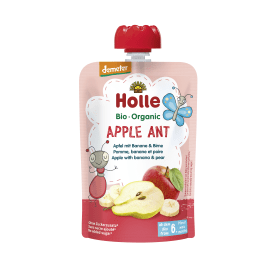 Demeter Apple Ant - Pouchy Apfel & Banane mit Birne, ab dem 6. Monat (100g)