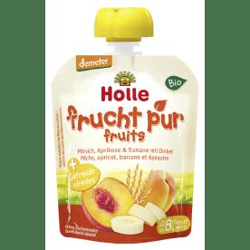 鸿乐有机桃,杏,香蕉加斯啤尔脱小麦果昔 8个月起 90g  Bio-Pouchy Pfirsich, Aprikose
